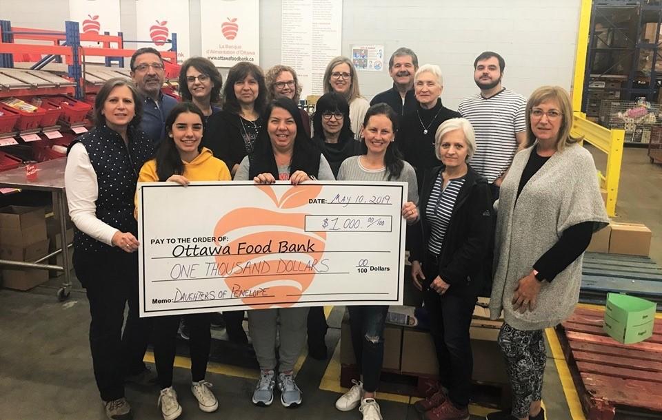 Ottawa 2019 Food Bank Donation